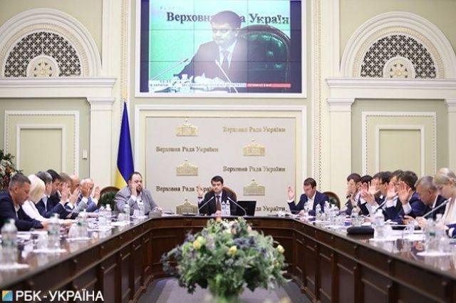 Состав комитетов Верховной Рады рассмотрят 19 августа