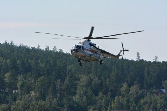 Отряды МЧС покидают лесную зону.