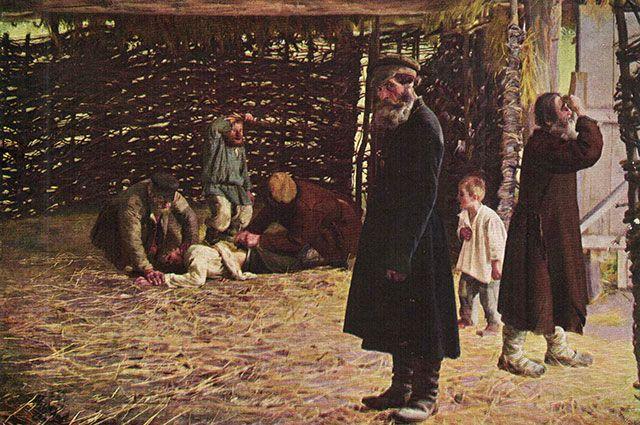 «Недавнее прошлое. (Перед поркой).» Художник Николай Орлов.