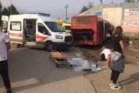 Авария унесла жизнь пассажирке. более 30 человек пострадали.
