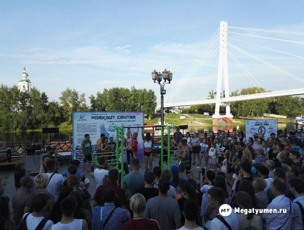 Народные гулянья 16 августа открылись на набережной реки Туры фестивалем экстремальных видов спорта.