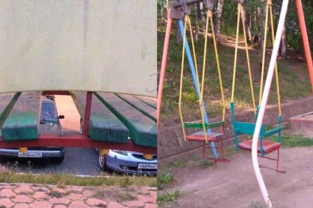 Двухлетний ребенок в Ноябрьске получил травму на качелях