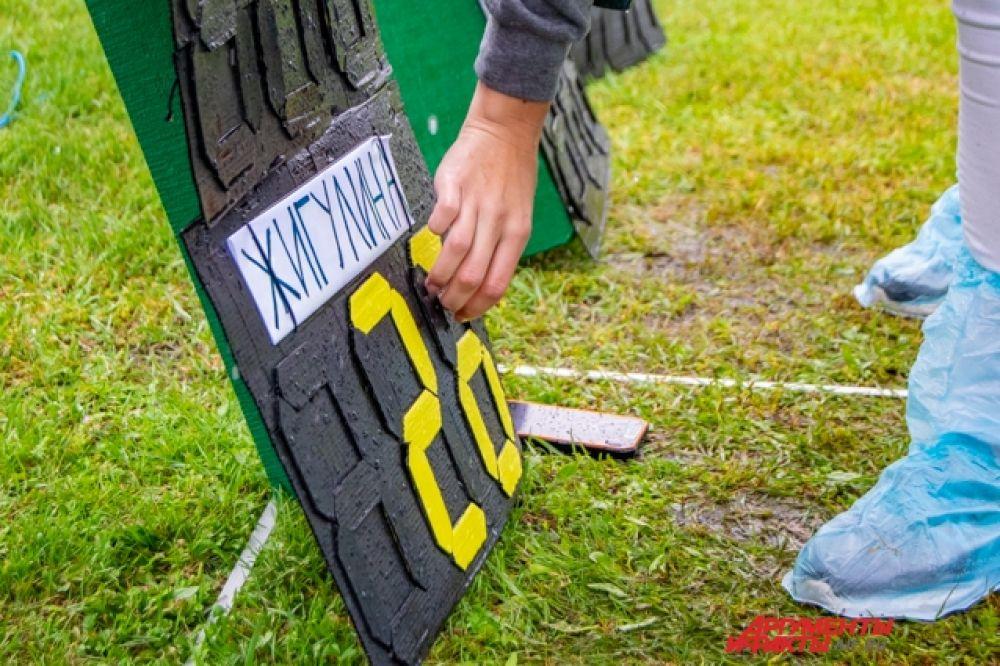 Однако даже непогода не помешала спортсменам показывать хорошие результаты и бороться за победу.