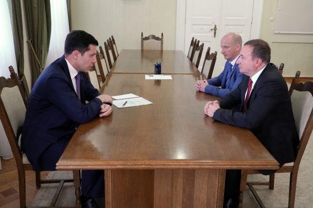 Антон Алиханов встретился с новым главой Калининградского отделения Сбербанка