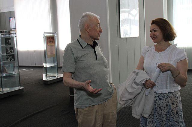 Леонора Куватова с Юрием Григоровичем в музее Рудольфа Нуреева.