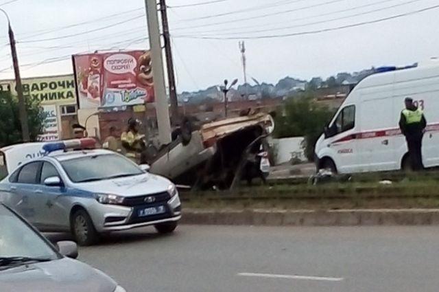 В Ижевске погоня за пьяным водителем закончилась крупной аварией