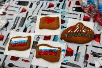 Ко Дню флага РФ тюменцы испекли 100 пряников с глазурью цветов триколора