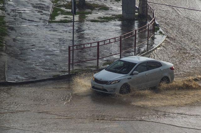 В перми 20 августа затопило несколько улиц.