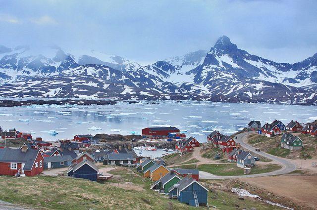 Город Тасиилак в юго-восточной Гренландии.