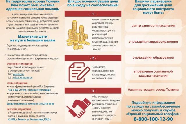 Тюменцев консультируют по вопросам получения помощи на основе соцконтракта