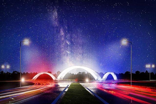 В Оренбурге на Нежинском шоссе появится светящаяся стела