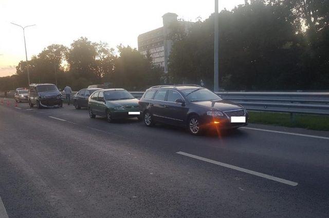В Гурьевском районе столкнулись 4 автомобиля