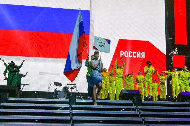 Медведев прибыл на церемонию открытия чемпионата WorldSkills