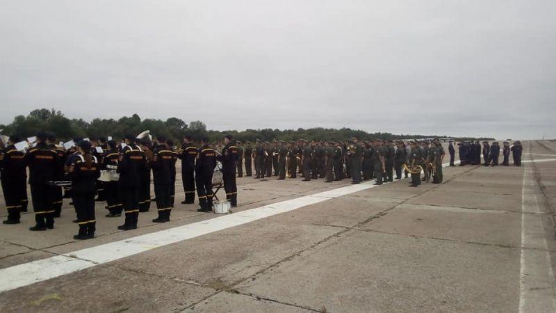 Репетиция парада ко Дню Независимости, который пройдет при участии первых лиц государства.