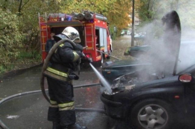 В Гвардейске полностью выгорел автомобиль