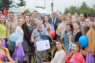 На празднике присутствовала делегация Гурьевска из Калининградской области.