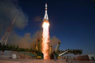 Запуск ракеты-носителя «Союз-2.1а» с пилотируемым кораблем «Союз МС-14» со стартовой площадки космодрома Байконур.