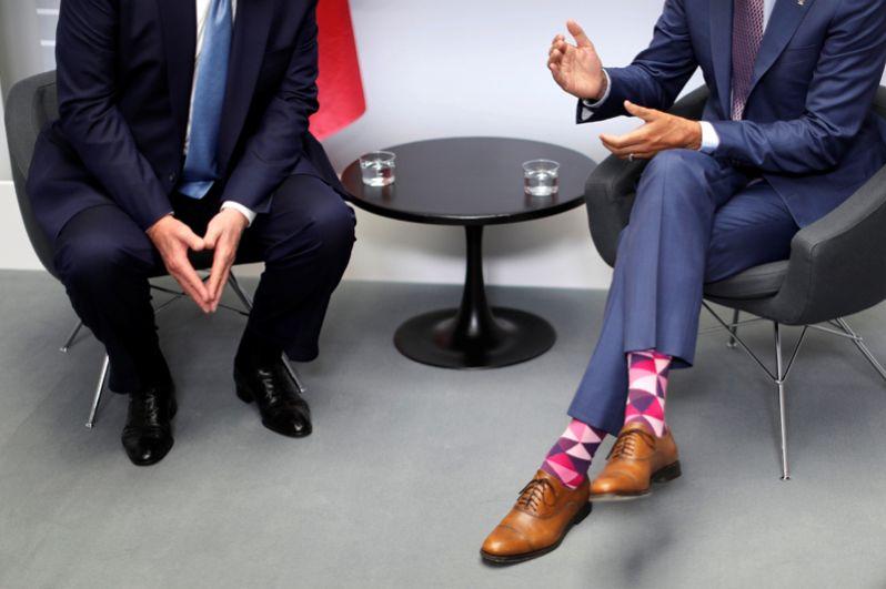 Президент США Дональд Трамп и премьер-министр Канады Джастин Трюдо во время двусторонней встречи.