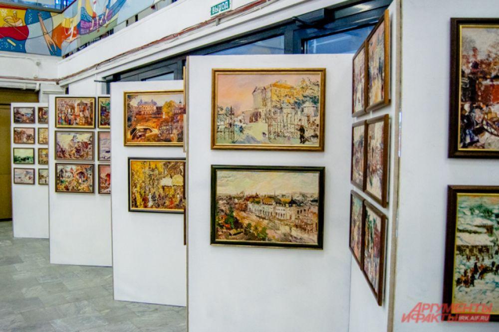 Кроме того, не обошлось на выставке и без картинной галереи.