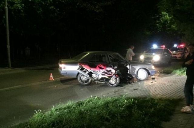 В Калининграде погиб 20-летний мотоциклист