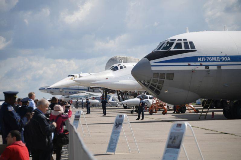 Советский военно-транспортный самолет Ил-76 МД-90А.