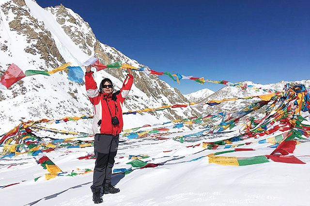 На перевале Дролма Ла (высота 5630 м).