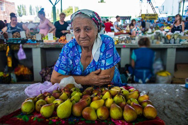 Рынок в Кишиневе.
