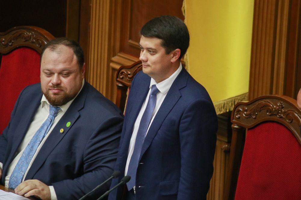 """Дмитрий Разумков, лидер партии """"Слуга народа"""" стал спикером Верховной Рады Украины."""
