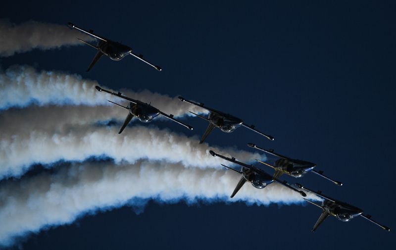 Самолеты Аэро Л-39 «Альбатрос» пилотажной группы Baltic bees из Латвии.