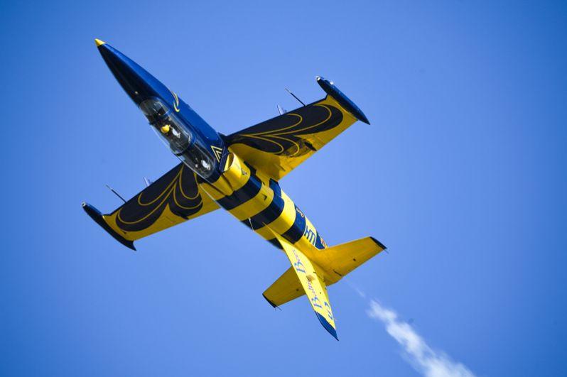 Самолет Аэро Л-39 «Альбатрос» пилотажной группы Baltic bees из Латвии.