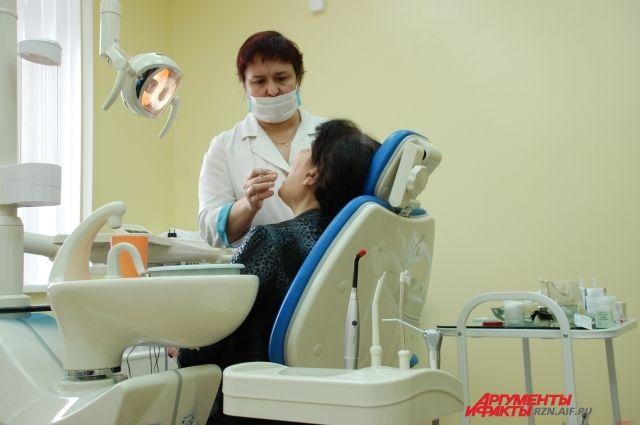 У стоматолога.
