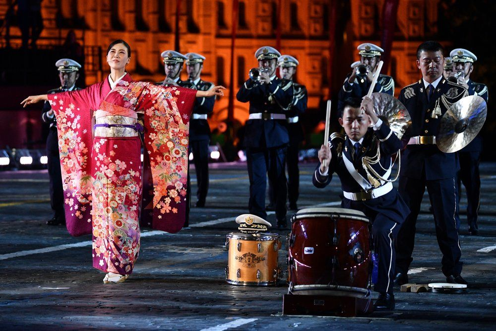 Выступление центрального оркестра Сухопутных Сил самообороны Японии.