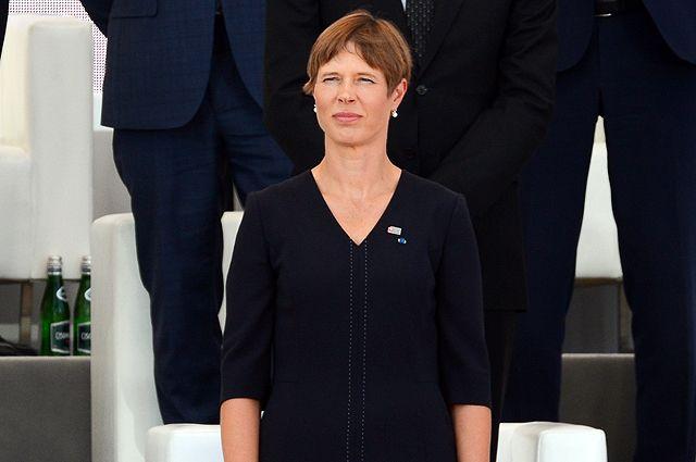 Президент Эстонии Керсти Кальюлайд на торжественной церемонии по случаю 80-й годовщины начала Второй мировой войны в Варшаве. 1 сентября 2019 г.
