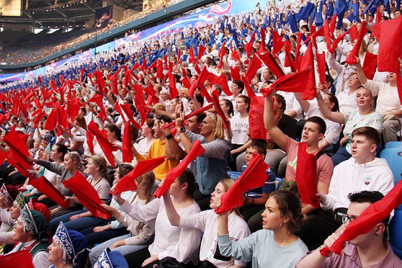 Гимн в «Газпром Арене» исполнили дважды.