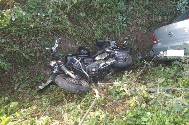 В Калининграде в ДТП пострадали водители мотоцикла и автомобиля