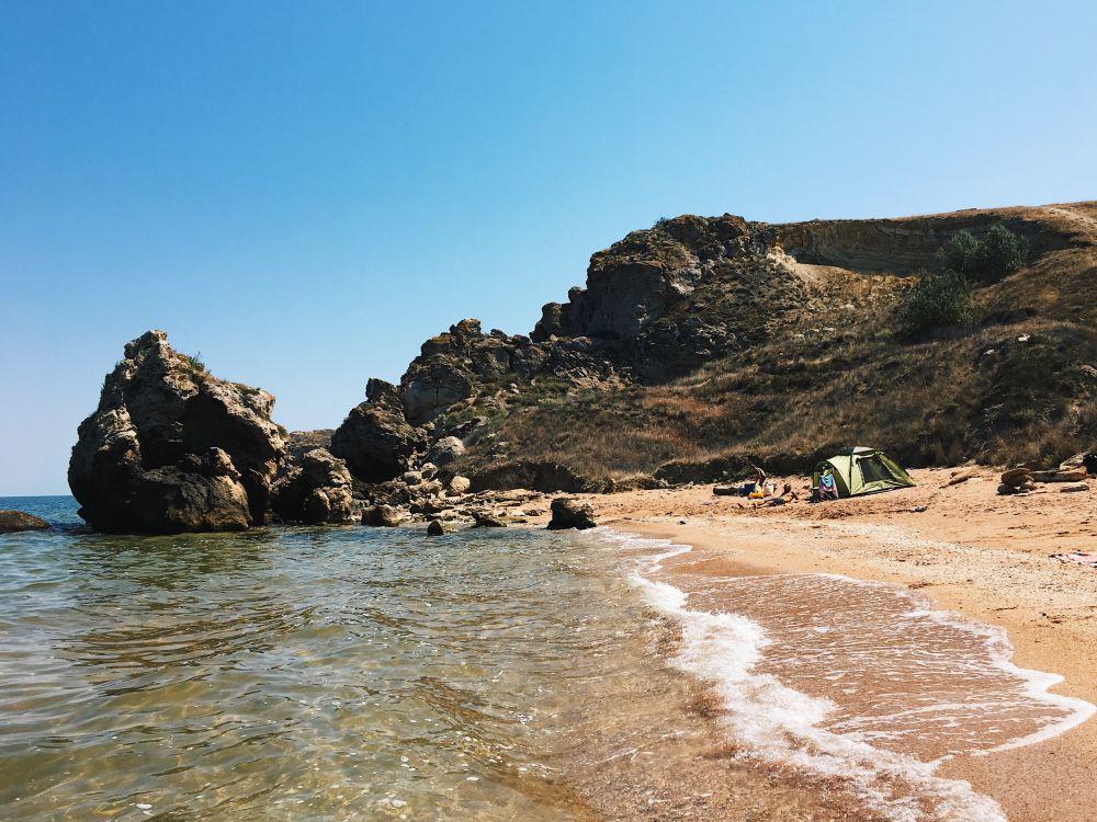 Генеральские пляжи вблизи Керчи.