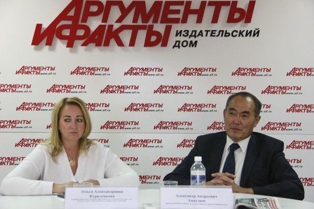 Ольга Куриленкова и Александр Амагзаев.