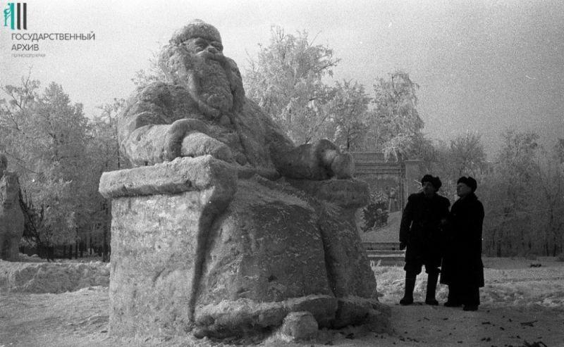 Ледяные скульптуры, 1956 год.