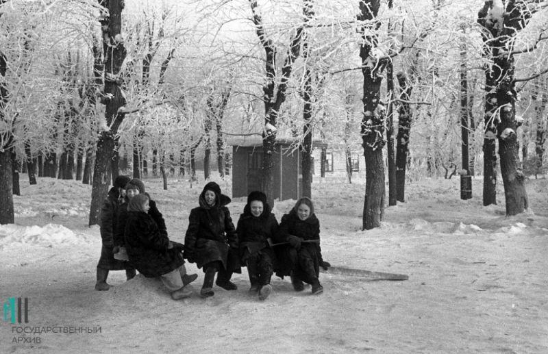 Катание с ледяных гор, 1956 год.