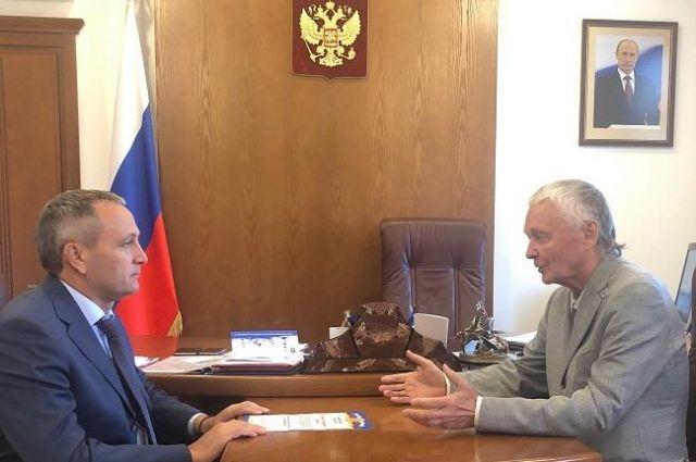 Дмитрий Кузьменко провел рабочую встречу с ученым Владимиром Мельниковым