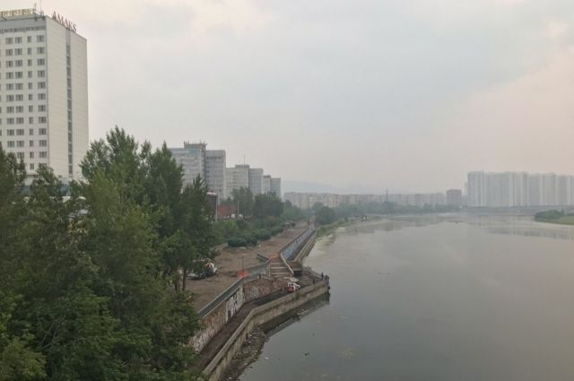 Летом Красноярск был в дымке от лесных пожаров.