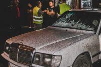 В Киеве во дворе сгорели три машины
