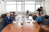 Пресс-конференция в пресс-центре