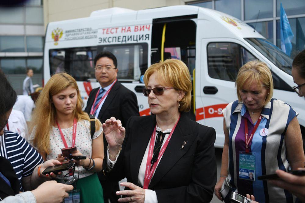 Министр здравоохранения РФ Вероника Скворцова на площадке V Восточного экономического форума во Владивостоке.