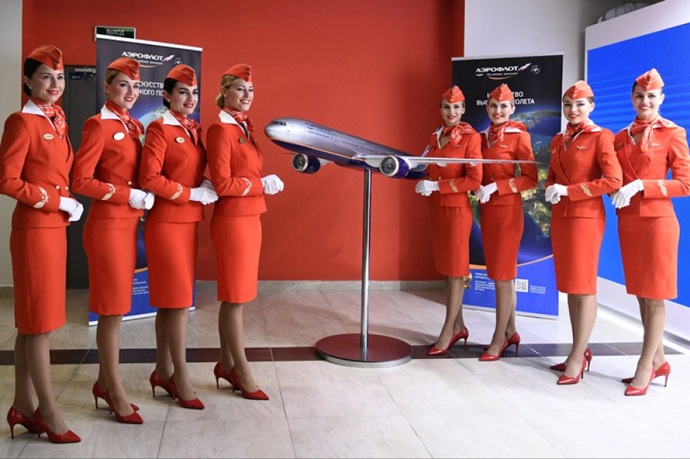 Стенд компании «Аэрофлот» на площадке V Восточного экономического форума во Владивостоке.