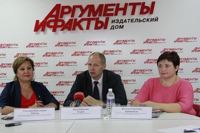 Светлана Лобаева, Илья Резник и Наталья Кривошеева.