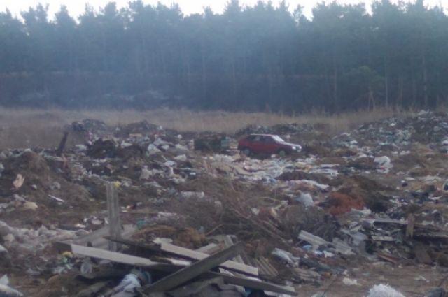 Несанкционированная свалка возле села Знаменка Минусинского района