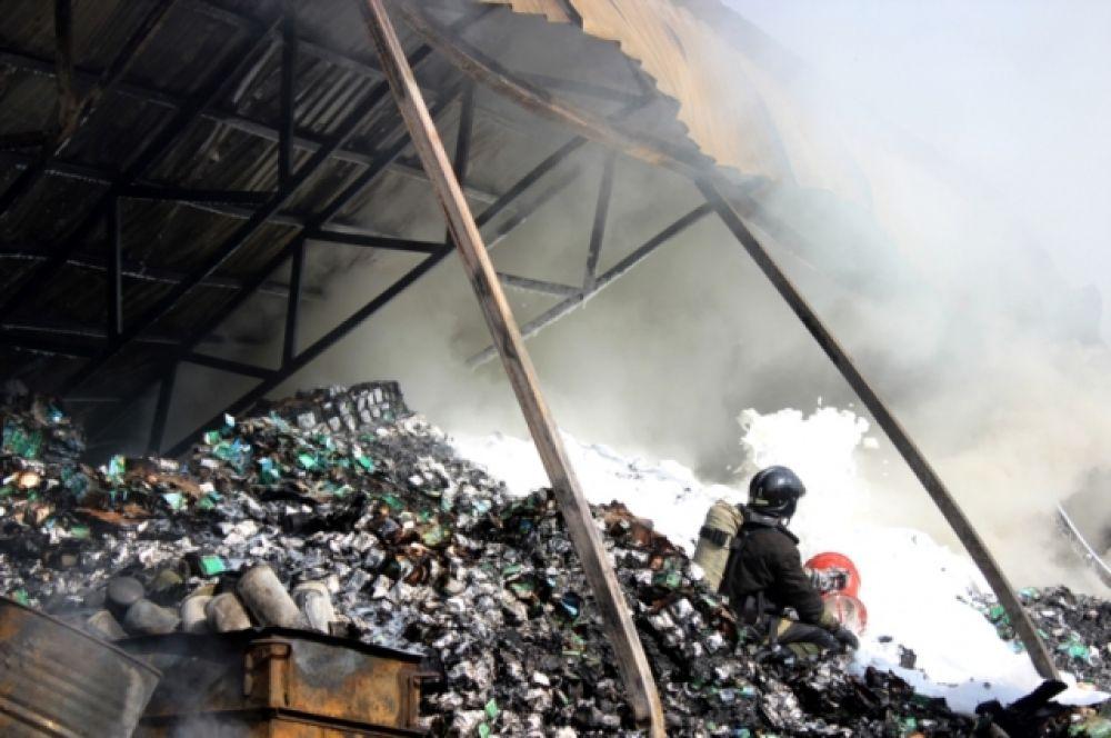 В тушении пожара были задействованы 67 человек...