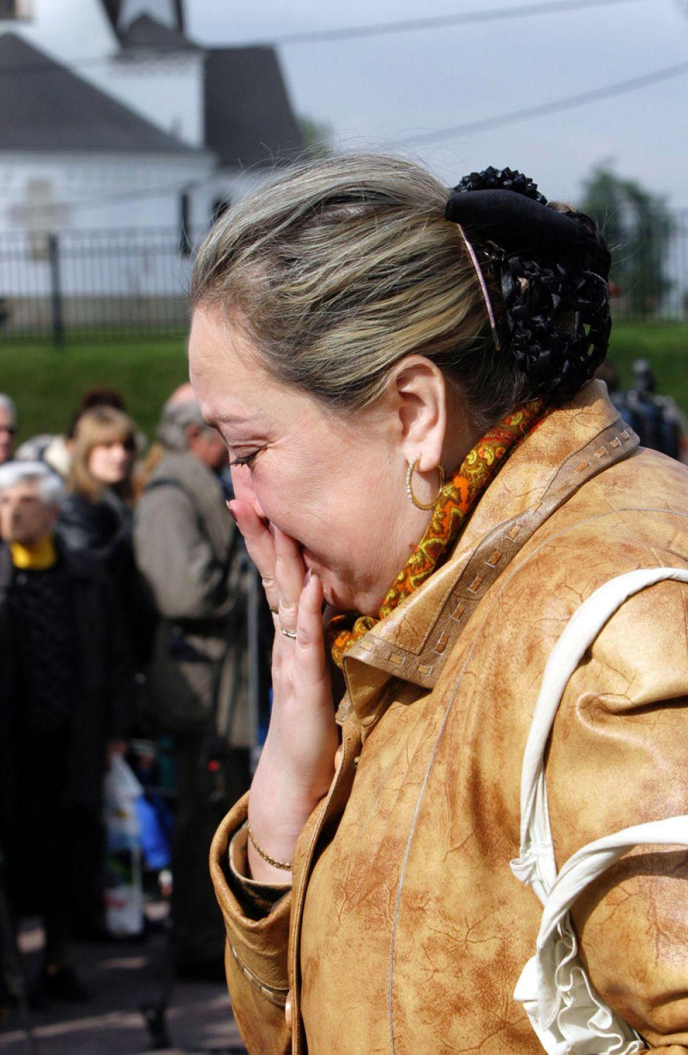 На церемонии, посвященной памяти жертв теракта, произошедшего на улице Гурьянова, 9 сентября 2004 года.