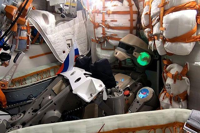 Антропоморфный робот Skybot F-850 (робот «Федор»).